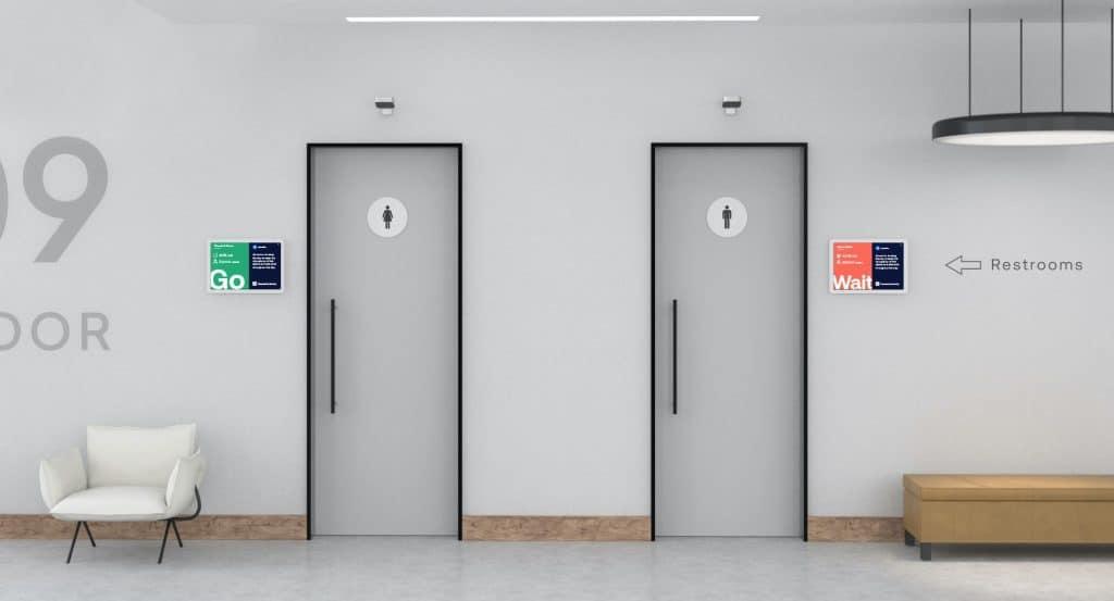 Restroom entrance/exit